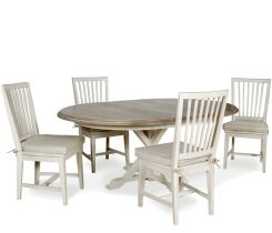 Hyannis 5-piece Dining Set with Washed Linen Chairs