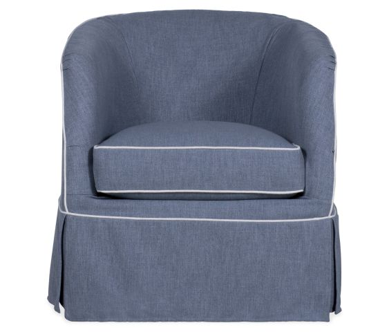 Aubree Slipcover Swivel Chair