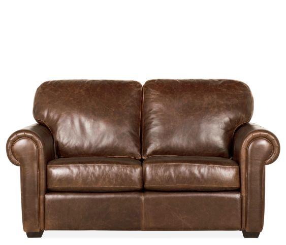 Boudreau Leather Loveseat- Bistro Chocolate