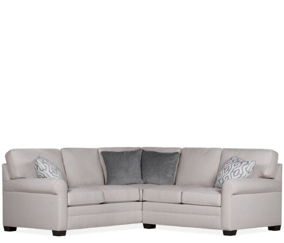 Brunswick 2-Piece Sectional LAC Sofa w/ Corner and RA Loveseat