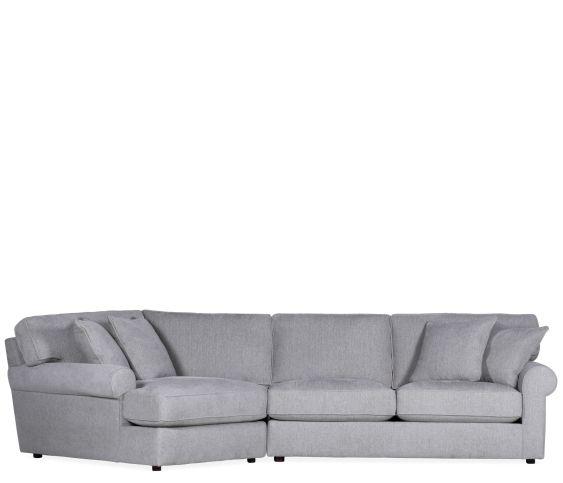 Courtyard 2 Piece Sectional RHF Apt Sofa & LHF Cuddler - Quentin Cloud