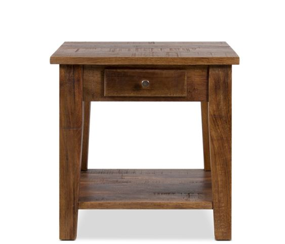 Kashmir End Table in Burned Tan