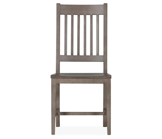Montgomery Slat Side Chair - Salvage Gray