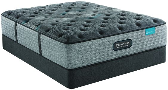Beautyrest Harmony Lux Diamond Plush Queen Mattress and Low Foundation Set