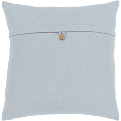 Button Pillow - Ice Blue